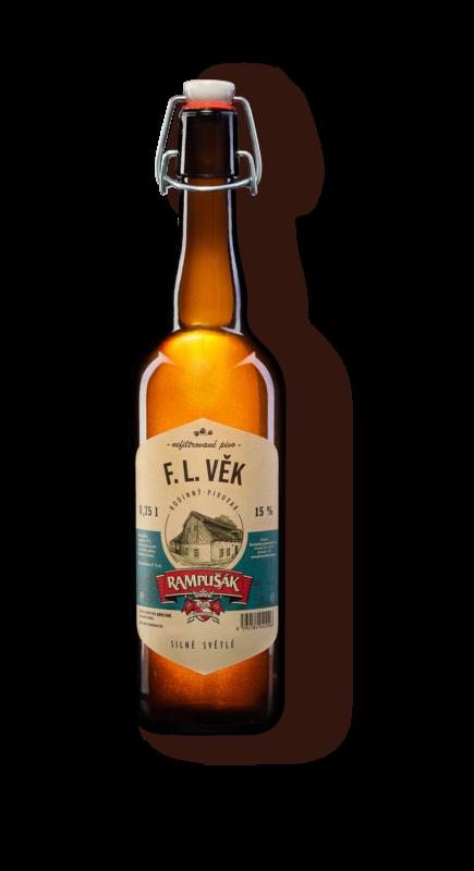 F. L. Věk lahvové pivo Rampušák 15