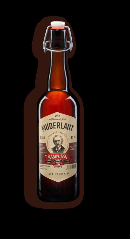Muderlant lahvové pivo Rampušák 13 polotmavé