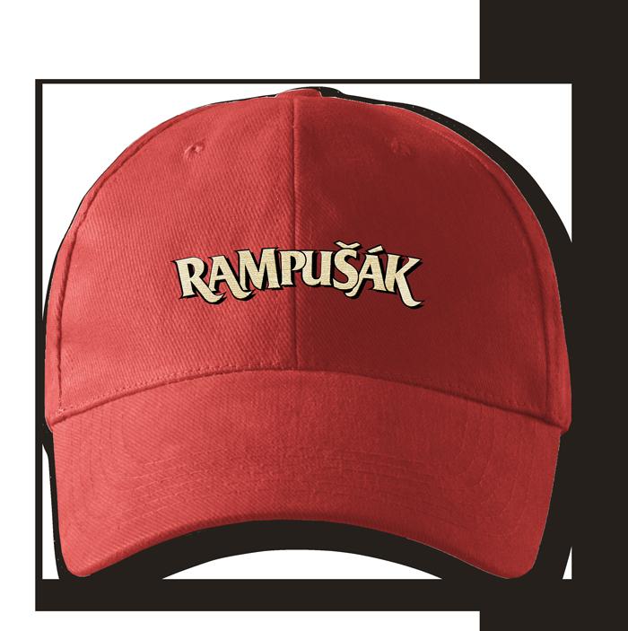 kšiltovka rampušák červená