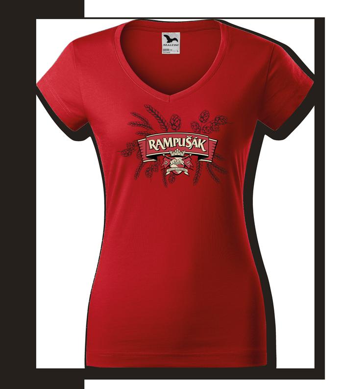 triko rampušák dámské červené